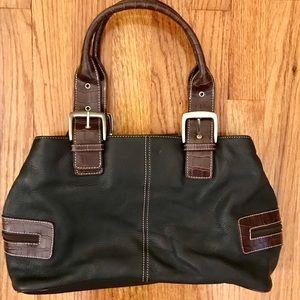 4b0b655349 Tignanello Bags - Luxurious Black   Brown Leather Tignanello Satchel
